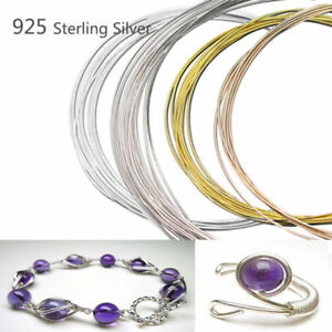 Nice-100cm-925-Sterling-Silver-Thread-String-Cord-Wire-DIY-Jewelry-Beading-Craft