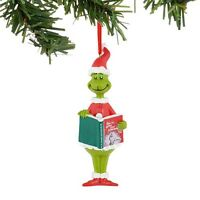 Dept 56 The Grinch Reading Ornament