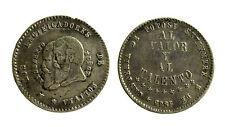 pcc1843_7) Bolivia 1/2 melgarejo 1865