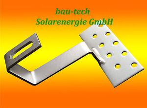 Solarenergie 10 Stk Dachhaken Photovoltaik Edelstahl