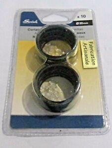 Swish-anello-anelli-tenda-20mm-ganci-trasparenti-10Pz-marrone-oro-invecchiato