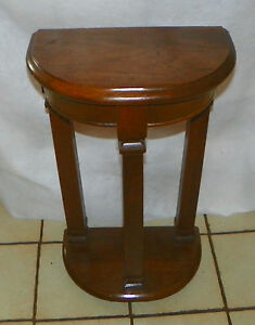 Image Is Loading Walnut Demilune Entry Table By Mersman RP T624
