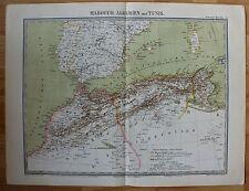 Afrika, Marocco, Algerien, Tunesien - Karte von 1868