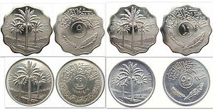 Iraq-5-amp-10-amp-25-amp-50-Fils-4-Uncirculated-Coin-Set