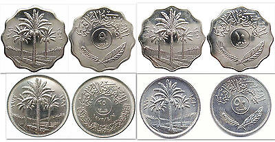 Iraq 5 & 10 & 25 & 50 Fils 4 Uncirculated Coin Set