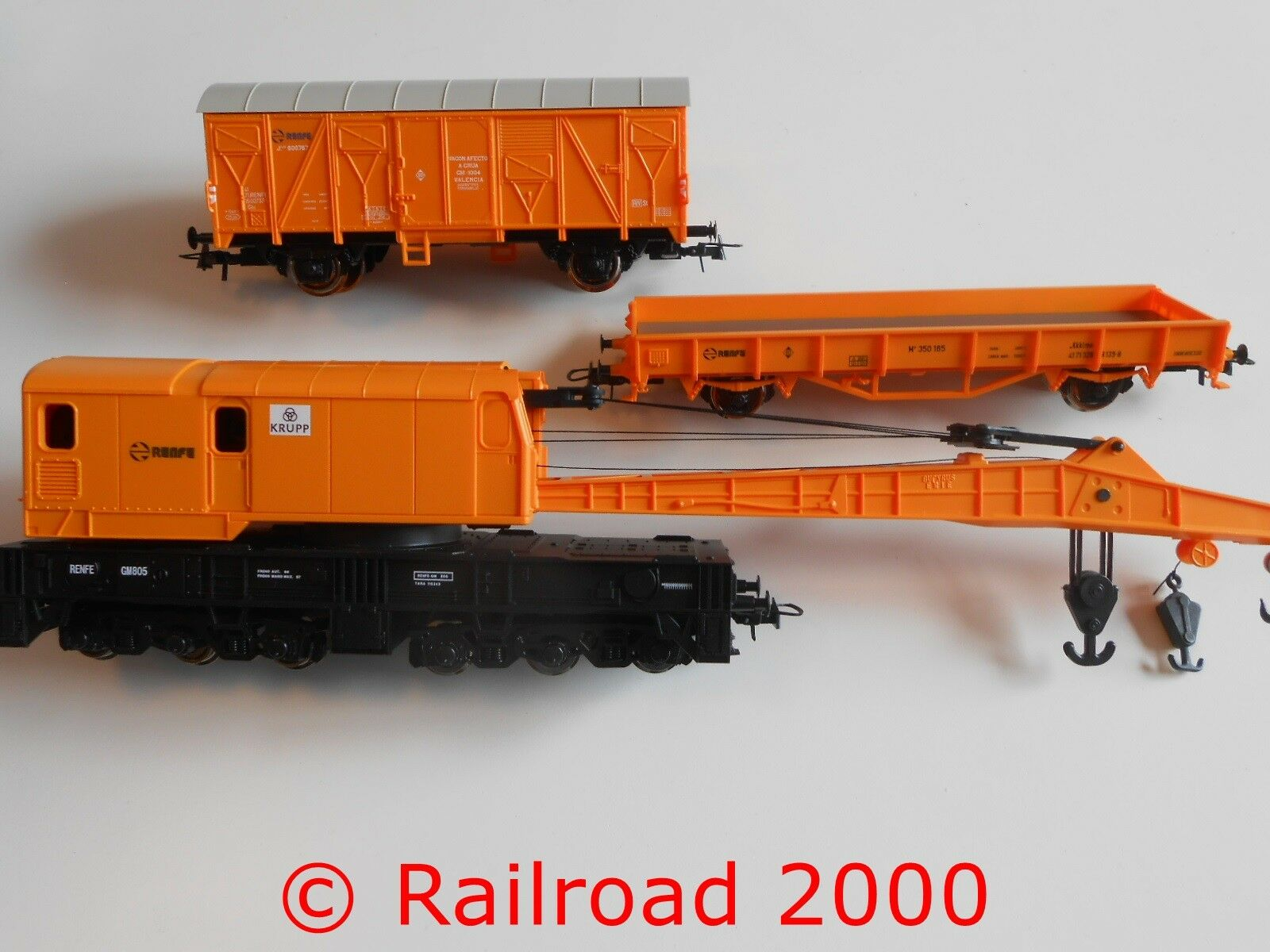 ROCO da 51305 BAUZUG: 1 festa carri merci gru 1 con carrello Protezione, Nuovo
