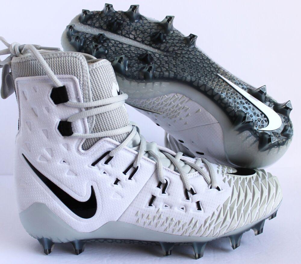 NIKE Obliger SAVAGE ELITE TD FOOTBALL CLEATS blanc-noir-Gris SZ 10 [857063-100]