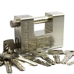 10-Keys-Super-Heavy-Duty-20-40-Container-Garage-Warehouse-Padlock-Chain-Lock