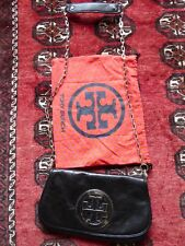 931deb2c64bb item 2 NEW Tory Burch black leather clutch with cross body chain silver  hardware -NEW Tory Burch black leather clutch with cross body chain silver  hardware