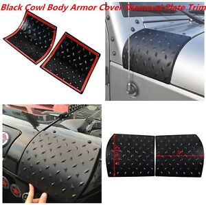 Cowl Body Armor Cover Sport For Jeep Wrangler Rubicon Sahara JK Unlimited 07-17