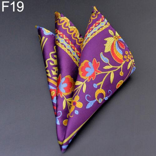 Men Pockets Square Silk Paisley Handkerchief Floral Hanky Wedding Party Surprise
