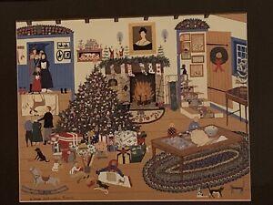 PRO FRAMED And MATTED LARGE FOLK ART CHRISTMAS PRINT SANDI WICKERSHAM RESNICK