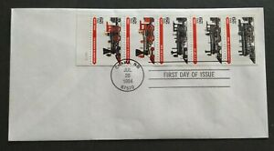 USA-1994-Locomotive-Trains-Stamp-FDC-official-iss-mild-toned-Lot-E