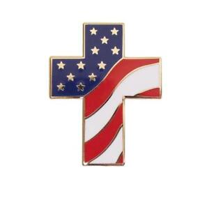 Patriotic-Lapel-Pin-Cross-with-US-Flag-Approx-1-1-16-034