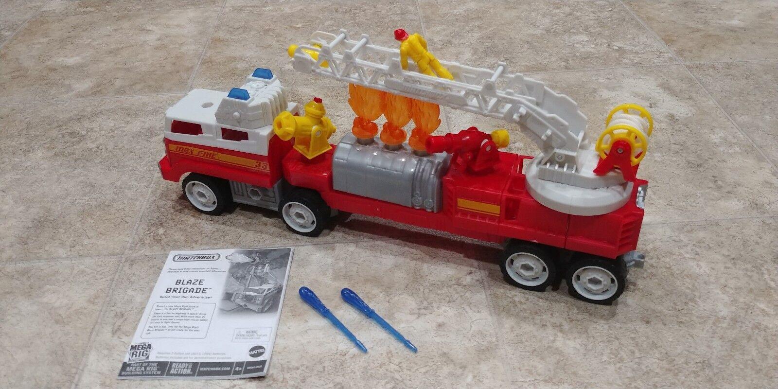 Matchbox Mattel Mega Rig Fire Brigade