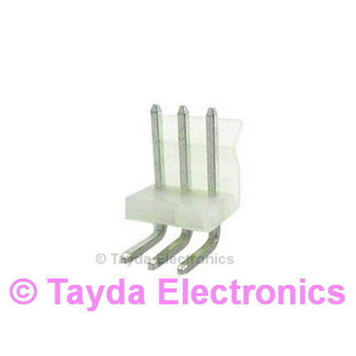 FREE SHIPPING 5 x Wafer Connector 3.96mm 3 Pins Right Angle