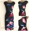 18 6 Size Coast Ex Rosa New Nero Floreale Blu Verde Occasion Ruched Dress 7TgqOP