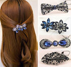 Fashion Women's Rhinestone Flower Metal Hair Pin Barrette Hairpin Clip