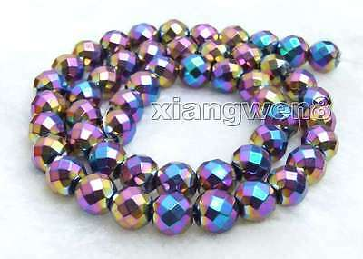 """Small 5*8mm column Faceted Gold Hematite Magnetic Loose Beads strand 15/""""-los708"""