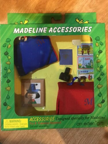 Madeline Travel Accessories 8 Inch Doll Suitcase Dress Bag Camera Eden New