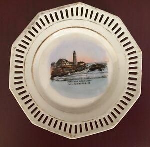 Portland Head Light Cape, Elizabeth, ME souvenir china plate - Maine lighthouse