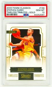 STEPHEN-CURRY-2009-Panini-Classics-166-TIMELESS-TRIBUTE-GOLD-PSA-10-ROOKIE-RC