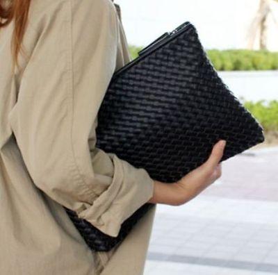 Hot Fashion Women PU Leather Handbag Clutch Envelope Shoulder Evening Bag Purse