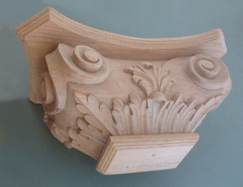 hand carved #484 Solid Wood Half Column Corinthian Capital Pilaster