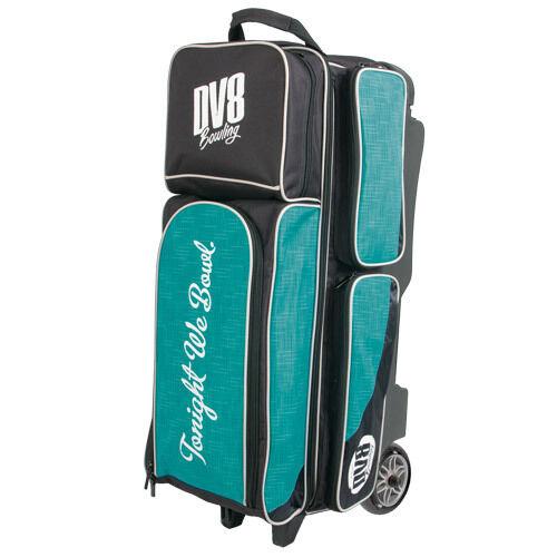 DV8 Circuit Triple Roller 3 Ball Bowling Bag Teal