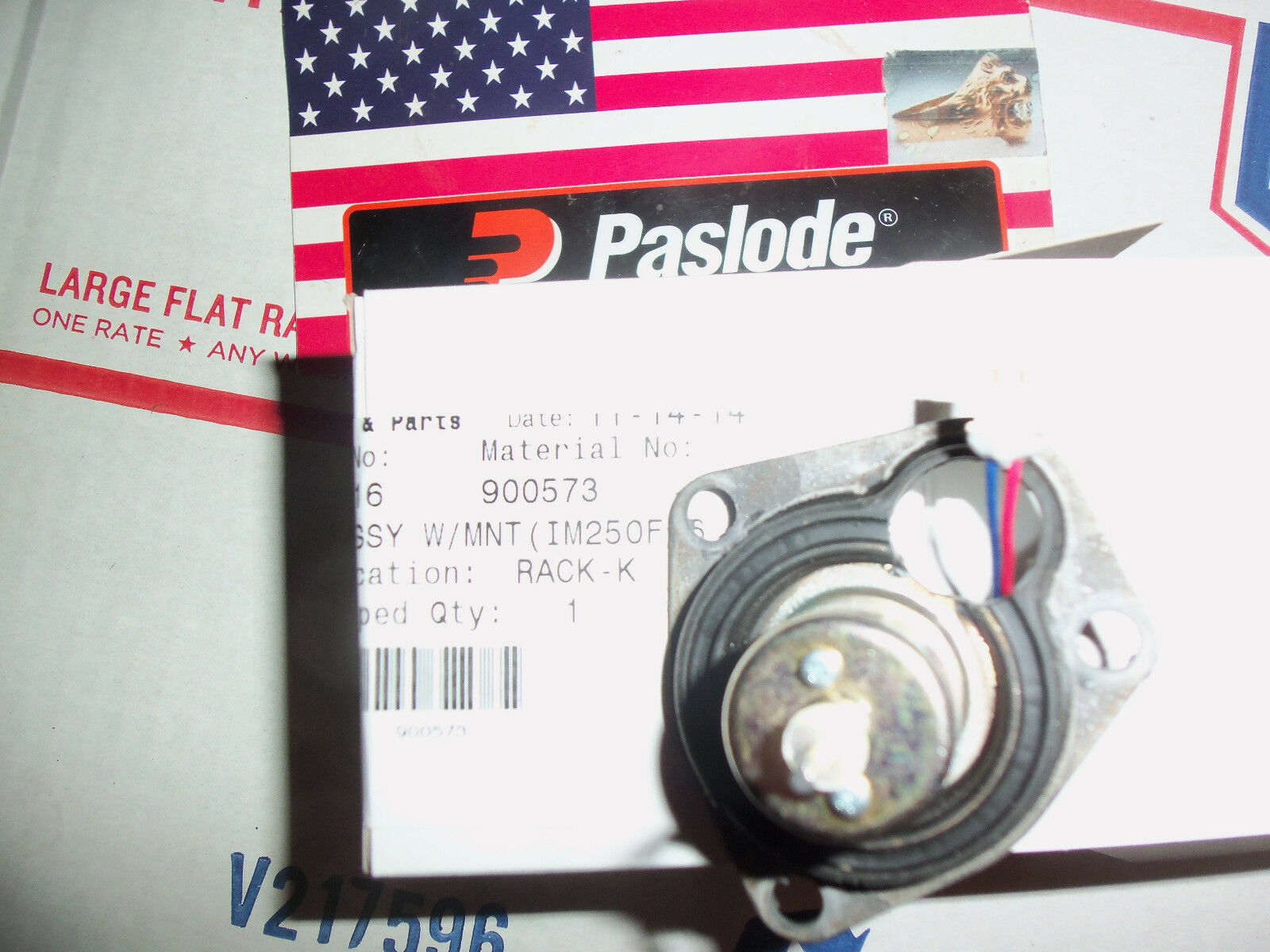 NEW  Paslode  Part Fan Motor with Mount