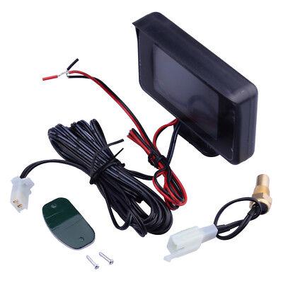 Car Digital LCD Display with Sensor Temperature Water Voltmeter Gauge Meter