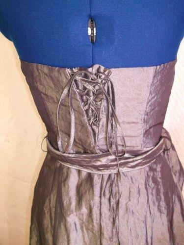 Silver Eve corsetteria Underskirtssize10 Dark Taffeta Dress Voile Topshop black OqPgwWZ5