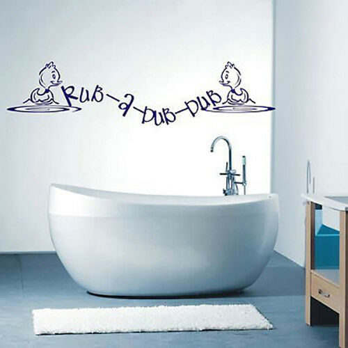 Rub A Dub Dub Bathroom Wall Art Sticker Quote 035