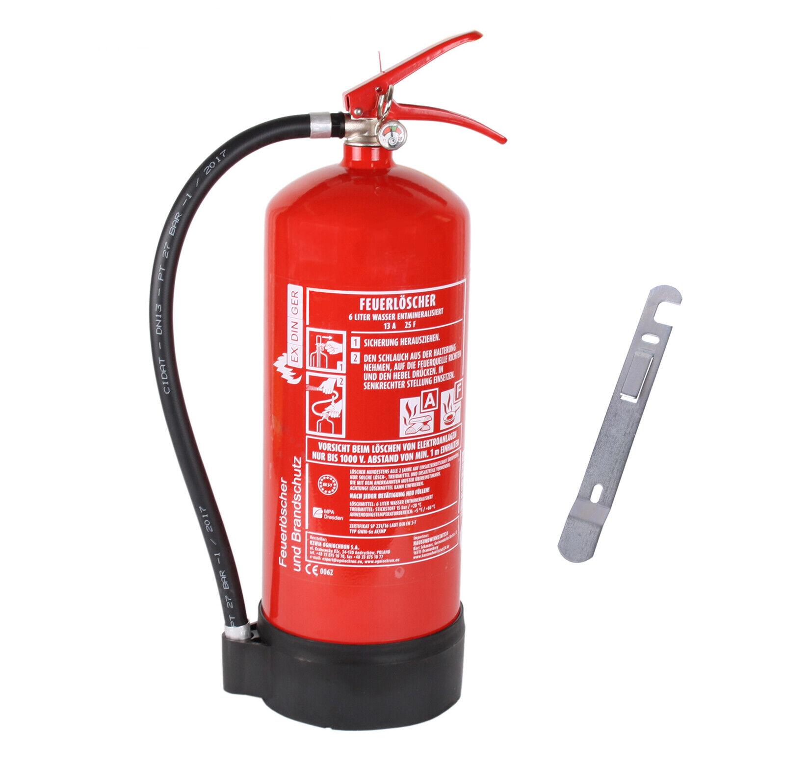 EXDINGER AF 6 Liter Wassernebel-Feuerlöscher mit 4 LE auch Fettbrände