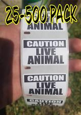 Caution Very Hot Water Sticker D3661