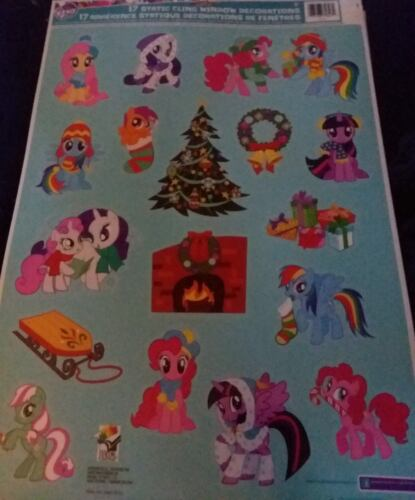 My Little Pony Christmas window clings