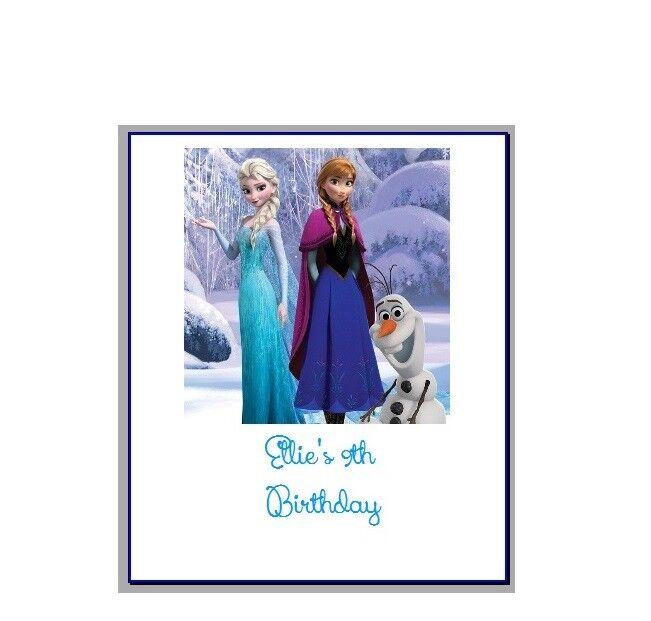 Personnalisé Chocolat Emballages Sac Fête faveurs faveurs Frozen 1 Elsa Anna Olaf 1 Frozen f15166