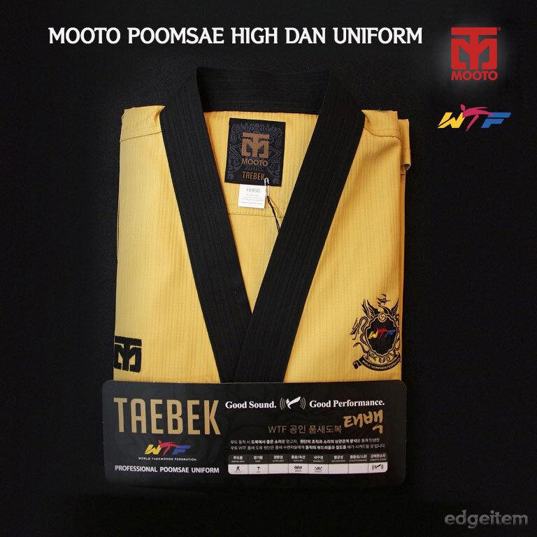MOOTO Poomsae WTF High Dan Uniform TAEBEK YellowTaekwondo Open Dobok  TKD  more order