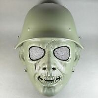 Army Green Airsoft Paintball Abs Full Face War Ii Zombie Mask Simple Jd45