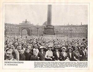 1914 Imprimé Première Guerre Mondiale ~ Nevsky Prospect Petrograd Foules Fronce E57vit5c-07225230-968848079