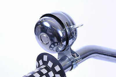 RETRO BIKE BELL DOUBLE ROTATING DOME FOR CHOPPER & TRENDY 70's 80's BIKES