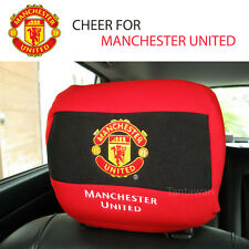 OFFICIAL MANCHESTER UNITED team 1pc Car Interior Headrest Head Rest Cover NWT