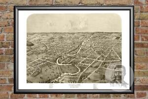Old-Map-of-Ypsilanti-MI-from-1868-Vintage-Michigan-Art-Historic-Decor