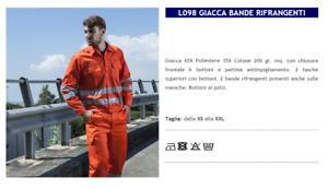 BLAZER HIGH VISIBILITY' MAN AID ROAD GARBAGE MAN L098 GP ITALIA