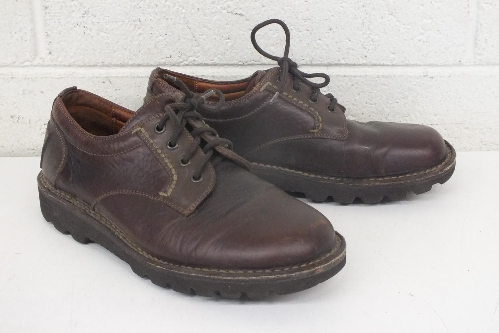 H.S. Trask High-Quality Brown Leather Lace-Up shoes US Men's 8 Fast Shipping