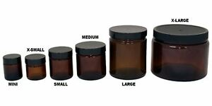 e43e49f17030 Details about NEW - Amber Glass AIR-TIGHT Storage / Kitchen / Stash Jar