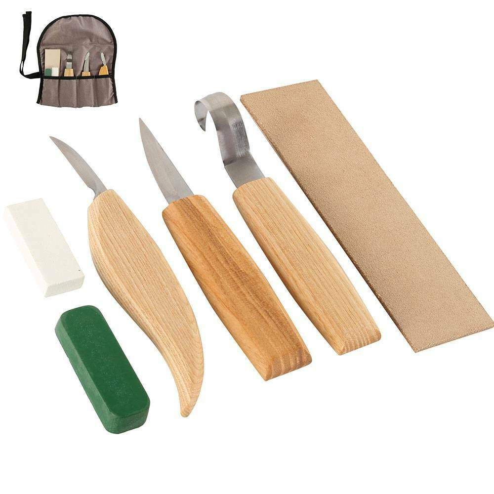 4Pcs Woodworking Carving Tools Set Professional Whittling Knifes Chip Hand Tools