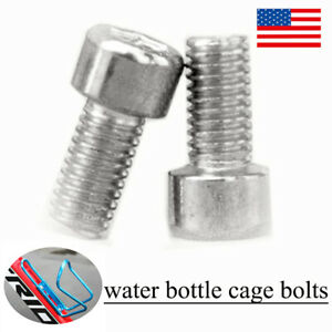 4Pcs Aluminum Alloy Bike Bicycle Water Bottle Cage Bolt Screws Mountain MTB Road
