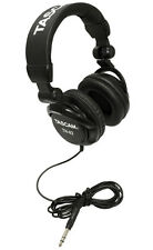 TASCAM TH-02B Padded Foldable Recording Mixing Home & Studio Headphones - Black