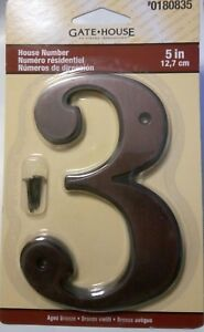 Image Is Loading Gatehouse Aged Bronze House Number 5 Inch
